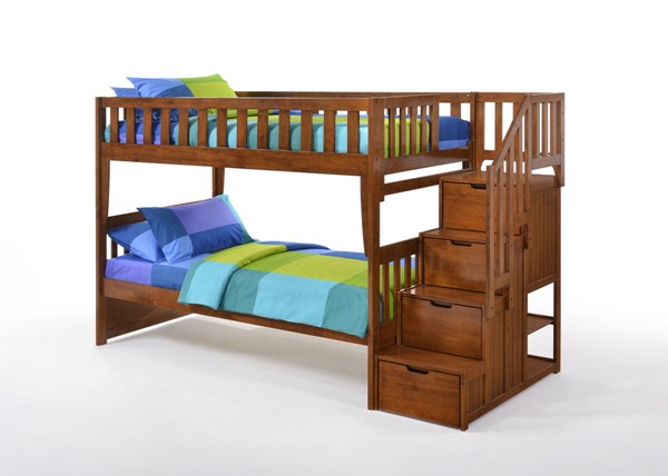Night and Day Furniture Peppermint Stair Bunk Beds NDF-PBB-PEP-COM-BB-VAR
