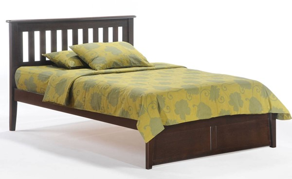 Night And Day Furniture Rosemary K Series Chocolate Twin Bed NDF-RMY-KH-TWN-CHO-COM