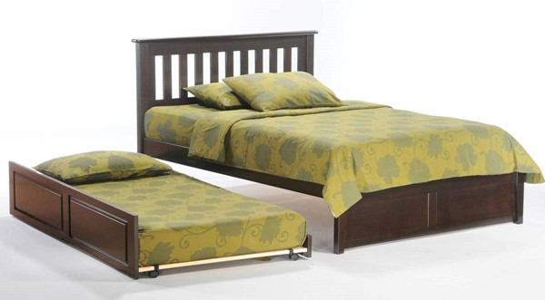 Night And Day Furniture P Series Chocolate Twin Rosemary Trundle Bed NDF-RMY-PBT-PH-TWN-CHO-COM