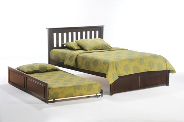 Night and Day Furniture P Series Chocolate Twin Rosemary Trundle Beds NDF-RMY-PBT-PH-BED-VAR