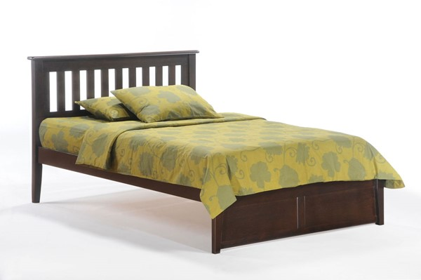 Night and Day Furniture Rosemary K Series Chocolate Queen Bed NDF-RMY-KH-QEN-CHO-COM