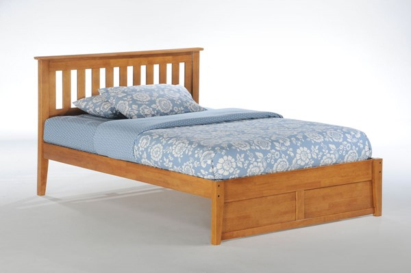 Night and Day Furniture Rosemary K Series Medium Oak Full Bed NDF-RMY-KH-FUL-MO-COM