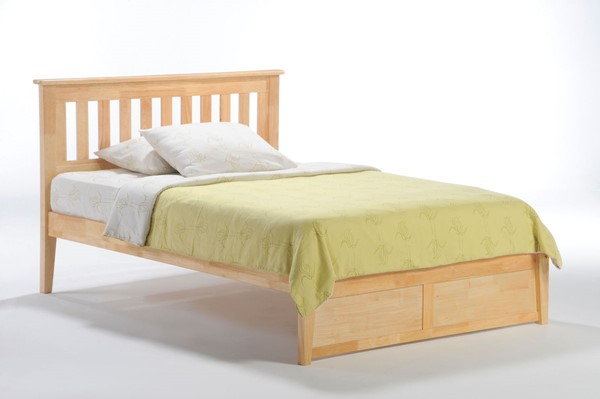 Night and Day Furniture P Series Natural Full Rosemary Bed NDF-RMY-PH-FUL-NA-COM