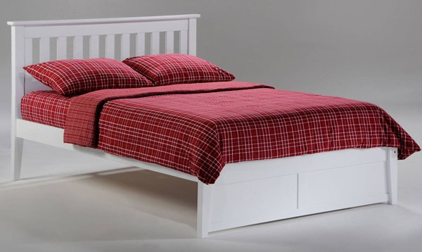 Night And Day Furniture P Series White Twin Rosemary Bed NDF-RMY-PH-TWN-WH-COM