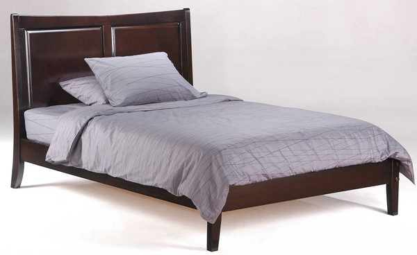 Night And Day Furniture P Series Chocolate Twin Saffron Bed NDF-SAF-PH-TWN-CHO-COM