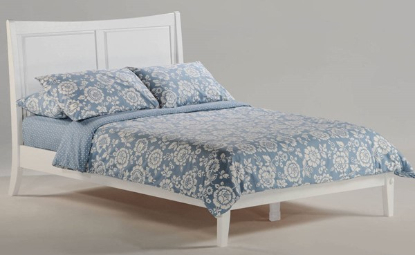 Night And Day Furniture P Series White Full Saffron Bed NDF-SAF-PH-FUL-WH-COM