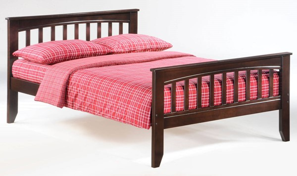 Night And Day Furniture Sarsaparilla Chocolate Full Bed NDF-YHF-SAR-FUL-CHO-COM
