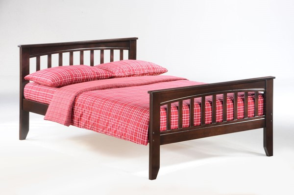 Night and Day Furniture Sarsaparilla Chocolate Twin Bed NDF-YHF-SAR-TWN-CHO-COM