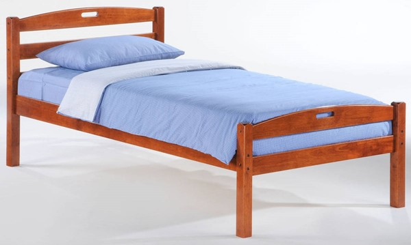 Night and Day Furniture Sesame Cherry Twin Bed NDF-YHF-SES-TWN-CH-COM