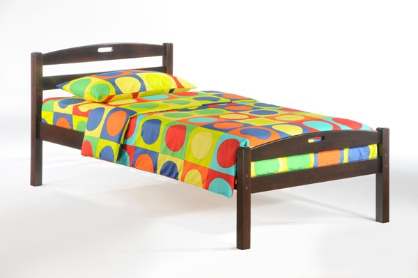 Night and Day Furniture Sesame Chocolate Twin Bed NDF-YHF-SES-TWN-CHO-COM
