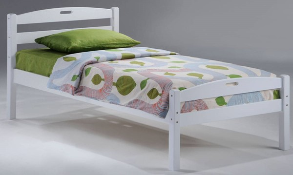 Night and Day Furniture Sesame White Twin Bed NDF-YHF-SES-TWN-WH-COM