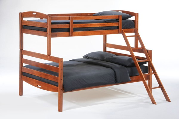 Night and Day Furniture Sesame Cherry Twin Over Full Bunk Bed NDF-PBB-SES-T-F-CH-COM