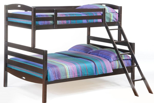 Night and Day Furniture Sesame Chocolate Twin Over Full Bunk Bed NDF-PBB-SES-T-F-CHO-COM
