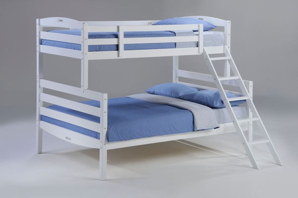 Night and Day Furniture Sesame White Twin Over Full Bunk Bed NDF-YBTF-SES-T-F-WH-COM
