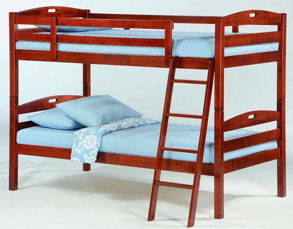 Night and Day Furniture Sesame Cherry Twin Over Twin Bunk Bed NDF-PBB-SES-T-T-CH-COM