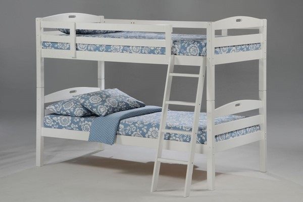 Night and Day Furniture Sesame White Twin Over Twin Bunk Bed NDF-PBB-SES-T-T-WH-COM