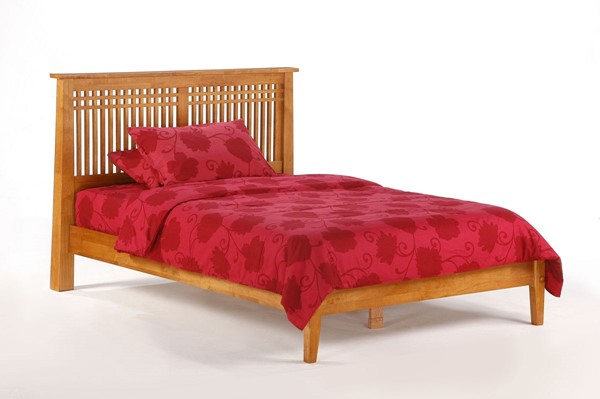 Night and Day Furniture Solstice K Series Medium Oak King Bed NDF-SOL-KH-EKG-MO-COM