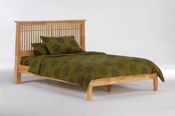 Night and Day Furniture Solstice K Series Natural Queen Bed NDF-SOL-KH-QEN-NA-COM