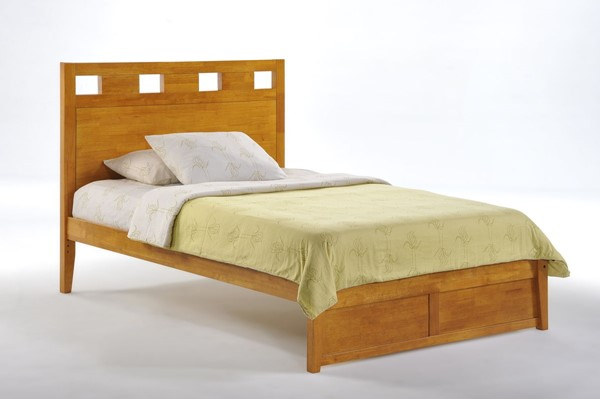 Night and Day Furniture Tamarind K Series Medium Oak Twin Bed NDF-TAM-KH-TWN-MO-COM