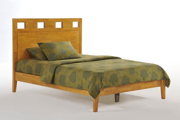 Night and Day Furniture P Series Medium Oak Queen Tamarind Bed NDF-TAM-PH-QEN-MO-COM