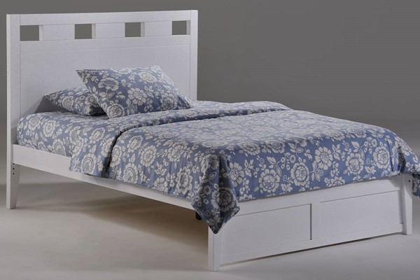 Night and Day Furniture Tamarind K Series White Queen Bed NDF-TAM-KH-QEN-WH-COM