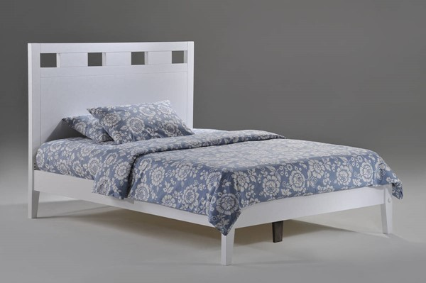 Night and Day Furniture P Series White Twin Tamarind Bed NDF-TAM-PH-TWN-WH-COM