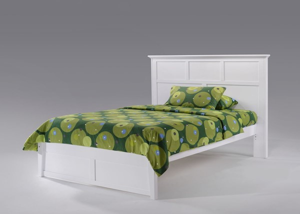 Night and Day Furniture Tarragon K Series White Full Bed Frame NDF-TAR-KH-FUL-WH-COM