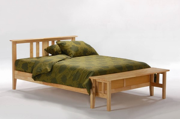Night and Day Furniture P Series Natural Thyme Beds with Footboard Bench NDF-THY-FFB-PH-BED-VAR