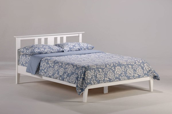 Night and Day Furniture P Series White Queen thyme Bed NDF-THY-PH-QEN-WH-COM