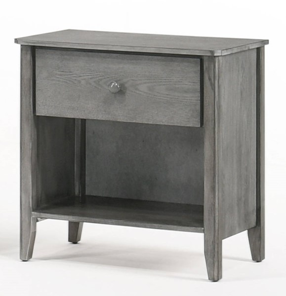 Night And Day Furniture Zest Grey Nightstand NDF-YCD-ZES-1A-GY