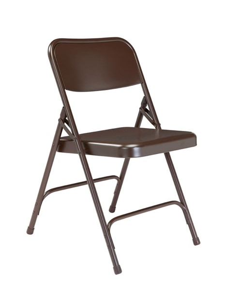 4 NPS 200 Brown Double Hinge Folding Chairs NPS-203
