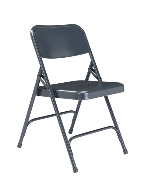 4 NPS 200 Blue Double Hinge Folding Chairs NPS-204