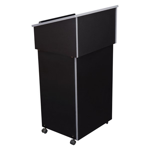 NPS Combo Black Oklahoma Sound Lectern with AV Cart Base NPS-22-112-BK