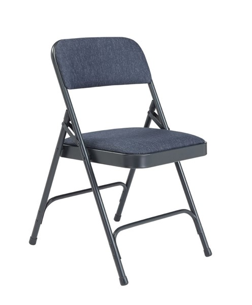 4 NPS 2200 Imperial Blue Fabric Folding Chairs NPS-2204