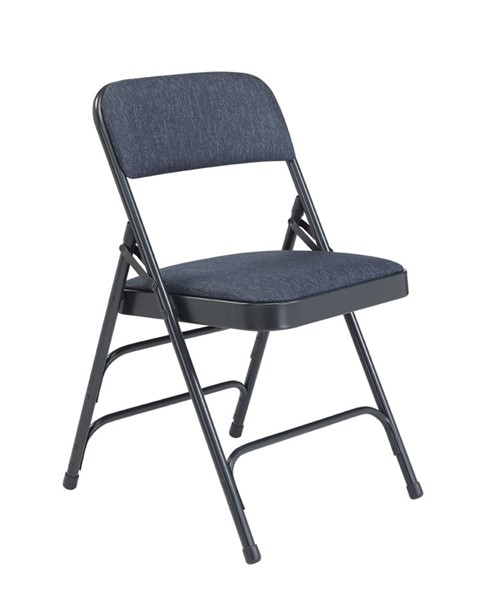 4 NPS 2300 Imperial Blue Fabric Folding Chairs NPS-2304