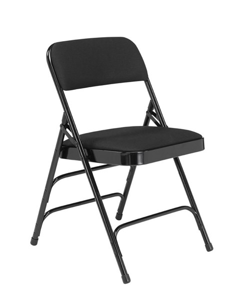 4 NPS 2300 Midnight Black Fabric Folding Chairs NPS-2310
