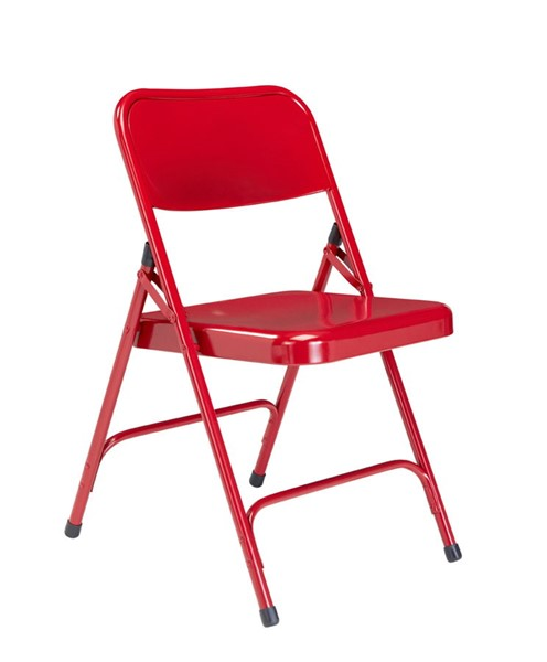 4 NPS 200 Red Double Hinge Folding Chairs NPS-240
