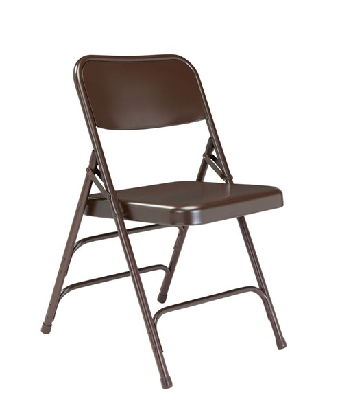 4 NPS 300 Brown Double Hinge Folding Chairs NPS-303
