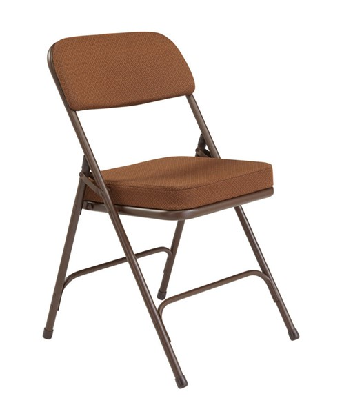 2 NPS 3200 Antique Gold Fabric Folding Chairs NPS-3219