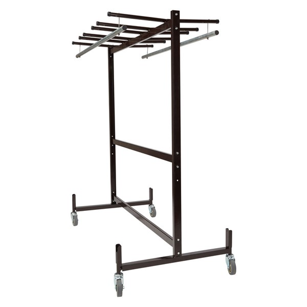 NPS Brown Table Chair Storage Truck With Checkerette Bars NPS-42-8-60