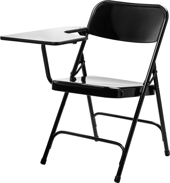 2 NPS 5200 Black Metal Right Arm Folding Chairs NPS-5210R