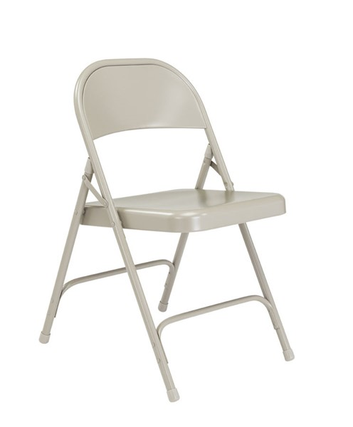 4 NPS 50 Grey Steel Folding Chairs NPS-52