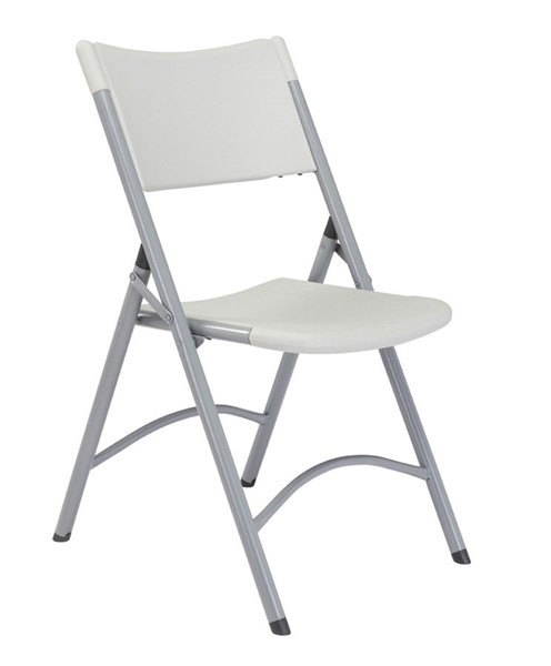 4 NPS 600 Speckled Grey Resin Plastic Folding Chairs NPS-602