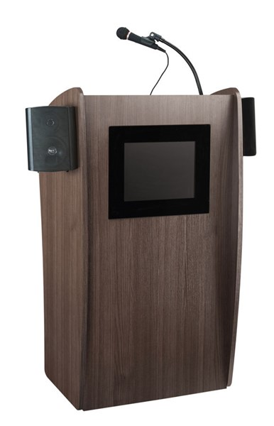 NPS Vision Ribbonwood Screen Lectern with Sound NPS-612S-RW