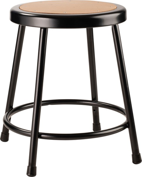 NPS 6200 Black 18 Inch Heavy Duty Steel Stool NPS-6218-10