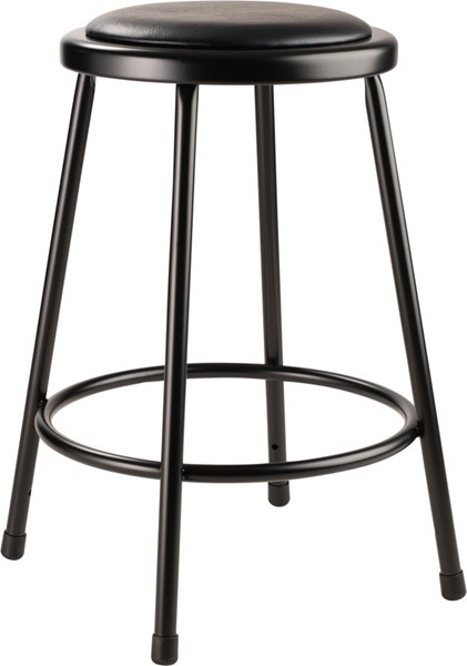 NPS 6400 Black Vinyl Metal 24 Inch Stool NPS-6424-10