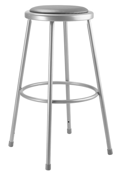NPS 6400 Grey Vinyl Metal 30 Inch Stool NPS-6430