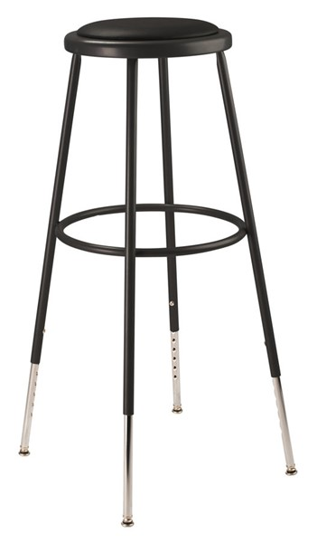 NPS 6400 Black 32 - 39 Inch Adjustable Height Stool NPS-6430H-10
