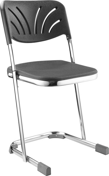 NPS 6600 Chrome Black 18 Inch Elephant Z Stool with Backrest NPS-6618B