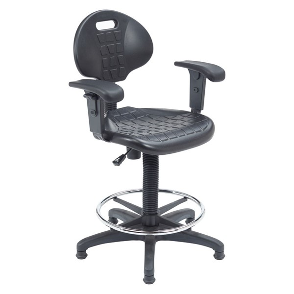 NPS 6700 Black 22 - 32 Inch Height Task Chair with Arms NPS-6722HB-A